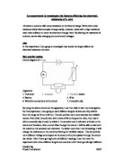 Resistance of a wire coursework method