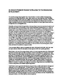 Renewable energy essay introduction