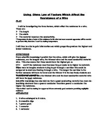 ohms law 2 essay Ohm law lab report - commit your lab read excessively long lab report kehali b 21 objectives become familiar with professional essays research papers, 2016 ohm.