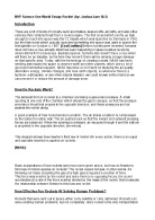rocket motion essay Projectile motion and inertia many students have difficulty with the concept that the only force acting upon an upward moving projectile is gravity.