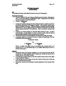 investigating terminal velocity essay