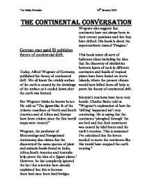 continental drift essay