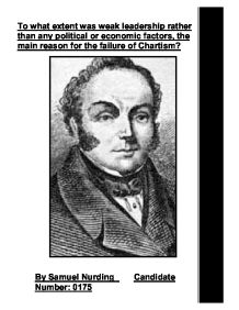 chartism failure essay A secondary school revision resource for gcse history about britain in the 1830s.