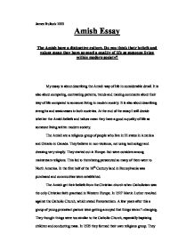 Amish Rumspringa Essay Sample