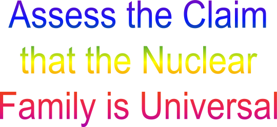assess the view that the nuclear Search results assess the view that the nuclear family is no longer the norm the definition of a nuclear family is a family that consists of a mother, father and their children, who all.