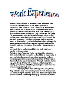 French Essays On Work Experience