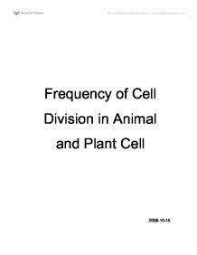 cell membrane structure and function revision questions and  biology lab frequency of cell division in animal and plant cell