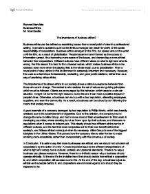 High School Persuasive Essay Examples Page  Zoom In Examples Of A Thesis Statement For A Narrative Essay also How To Write A High School Application Essay The Importance Of Business Ethics  International Baccalaureate  Persuasive Essay Examples For High School