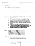 Experiment 1 preparation of standard solutions and essay
