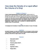 investigating the volume of a drop 2 essay Topic investigating stoichiometry fading away, begin adding the naoh drop by drop all bottled up: the perfect ecosystem.
