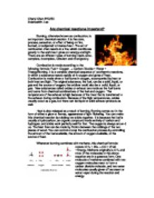 combustion essay burning otherwise known as combustion is an  page 1 zoom in