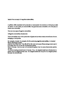 Negative Externalities Essay