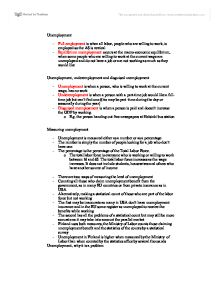 The different types of unemployment in the economy and policies essay