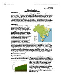 Population Growth in Brazil Essay Sample