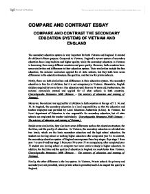 Compare and Contrast Essays, High School vs College
