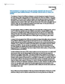 Internal Assessment Sample – International