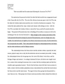 Computer Science Essay How Successful Was Reconstruction Following The American Civil War Sample Argumentative Essay High School also Business Ethics Essays Us History To What Extent Were The Aims Of Reconstruction Achieved  Is Psychology A Science Essay