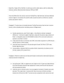 cold war reasons essay