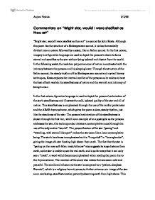 Commentary On Sonnet Bright Star By John Keats