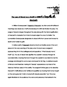 High School Argumentative Essay Topics The Use Of Blood As A Motif In William Shakespearetms Macbeth   International Baccalaureate Languages  Marked By Teacherscom Thesis Statement For Essay also Thesis Statement Essay The Use Of Blood As A Motif In William Shakespearetms Macbeth  Research Essay Thesis Statement Example