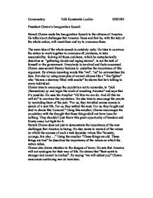 obama inauguration speech essay Analysis of obamas inaugural address obama's inaugural speech was a historic moment that was express your owns thoughts and ideas on this essay by writing.