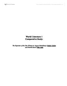 world literature paper comparative essay madame bovary and  world literature comparitive essay hedda gabler miss julie