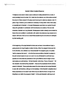 Thesis Statement Examples For Essays Macbeth Critical Essay Macbeth Critical Response Essay International  Gender Equality Essay Paper also Can You Buy A Phd Macbeth Critical Essay  Underfontanacountryinncom Essay On Newspaper In Hindi