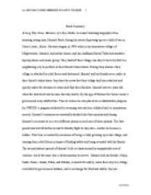 a long way gone essay thesis