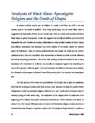 Freewill Vs Destiny And Science Vs Religion Essays  International  Analysis Of Black Mass Apocalyptic Religion And The Death Of Utopia