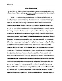 TOK History Essay - International Baccalaureate Theory of ...