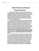 advantages of chemical and biological weapons essay Why are chemical weapons worse than conventional weapons noting that biological and nuclear weapons are much more even if chemical weapons aren't.