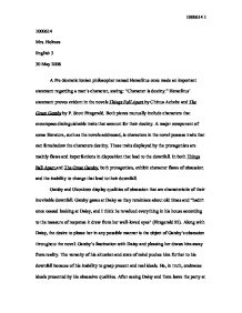 In Both Things Fall Apart And The Great Gatsby Both Protagonists  Page  Zoom In English Composition Essay also High School Essay Help  Literary Essay Thesis Examples