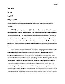 the bildungsroman genre essay Bildungsroman research papers bildungsroman essays discuss the term that refers to any coming of age story, focusing on the moral and psychological growth of the.