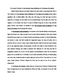 Example Proposal Essay The Strength Of Women In One Hundred Years Of Solitude And The House Of The  Spirits  International Baccalaureate World Literature  Marked By  Teacherscom Important Of English Language Essay also Independence Day Essay In English The Strength Of Women In One Hundred Years Of Solitude And The House  Essay For High School Application