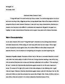 things fall apart literary analysis essay