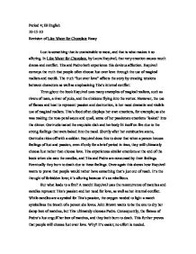 the chocolate war theme essay The most prominent literary element in the chocolate war is characterization it is definitely shown throughout the book according to an online source about literary.