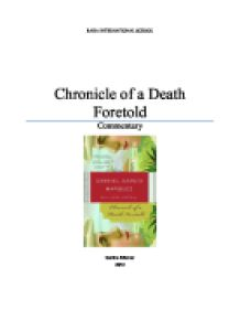 chronicles of a death foretold essay questions