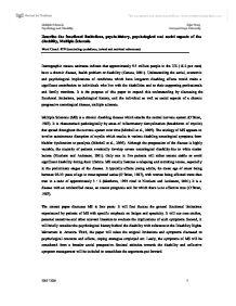 Multiple sclerosis essay