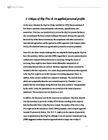 Killer Profile - Essay Example