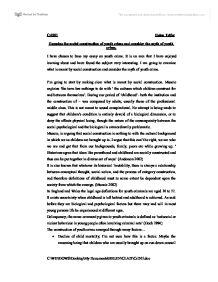 Juvenile delinquency essays