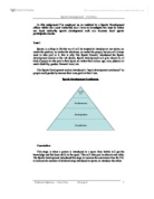 sports development continuum essay The sports development continuum football p1 describe three examples of the sports development continuum, from three different sports m1 compare and contrast three examples of the sports.
