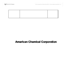 american chemical corporation wacc Read this essay on american chemical corporation case come browse our large digital warehouse of free sample essays get the knowledge you need in order to pass your.