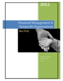 Financial Management for Nonprofit Organizations: Policies and Practices