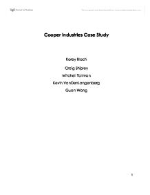 Cooper Industries Case Study 2 Case Study Solution & Analysis