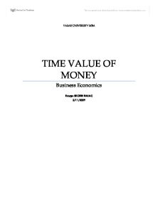 Time Value of Money - TVM