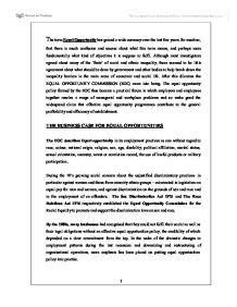 human resource management equal opportunities essay Human resource management sixth edition  regulation of human resource management 63 equal employment opportunity 64  golden opportunities for underappreciated.
