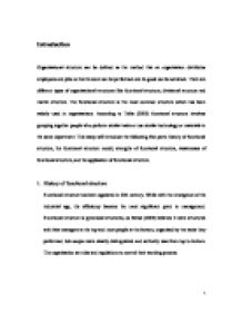 organizational structure this essay will introduce the following  page 1 zoom in