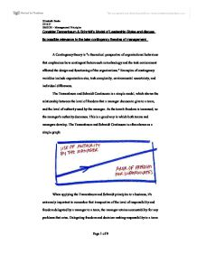 contingency theory essay Check out our top free essays on contingency theory to help you write your own essay.