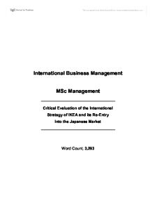 Business Coursework - Critically Evaluate the International Strategy of A Company - Any good websites?