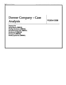 "donner company case hbs 608 – industrial case study european case clearing house) 11 ""donner"" (hbs, 9-689-030) hbs: harvard business school cases hbr."